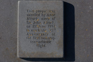 Plaque on the Alcock and Brown monument | Roger Harrison