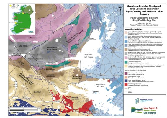 Simplified geology map