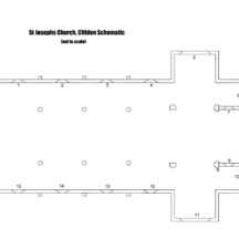 Church-Schematic showing position of windows   Roger Harrison