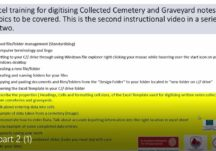 Excel training for digitising graveyard records