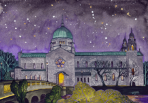 Galway Cathedral at night