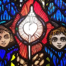 Detail from Harry Clarke studio window in Our Lady of Lourdes church Creagh, Ballinasloe | Photo: Christy Cunniffe