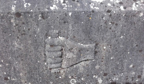 Headstone Symbol Bonesetter, Kilbannon Graveyard, Tuam | Clare Doyle