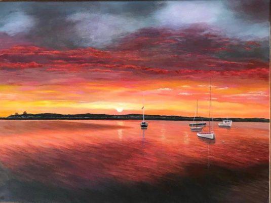 Sunset Lough Corrib   Jim O'Sullivan