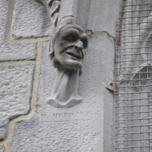Cartoon-like carved heads on the Cathedral of the Assumption of the Blessed Virgin Mary, Tuam by W. Murray | Dr Christy Cunniffe