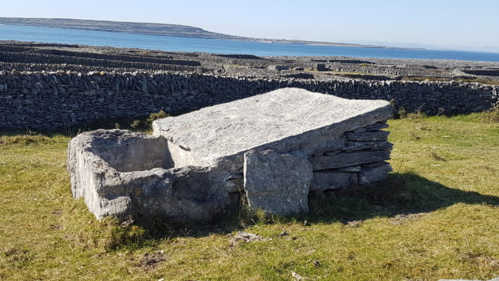 Water catcher Inis Oírr, Foul sound and Inis Meain in background | Paddy Crowe