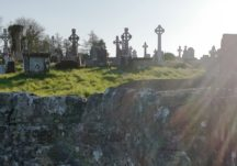 Killererin Mass stile to old medeival church and graveyard