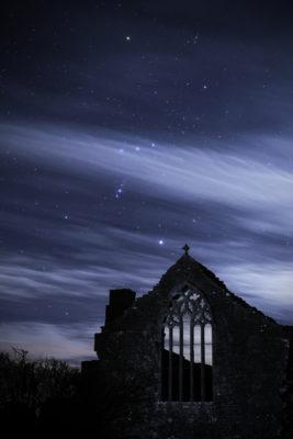 Orion over Clontuskert Abbey | Robert Riddell