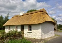 The Fully-restored and rethatched Miller's Cottage