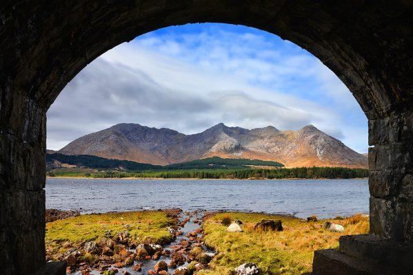 Twelve Bens from Lough Inagh bridge | Robert Riddell