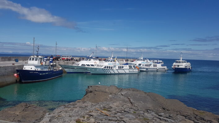 Ferries at Inis Oirr pier | Paddy Crowe