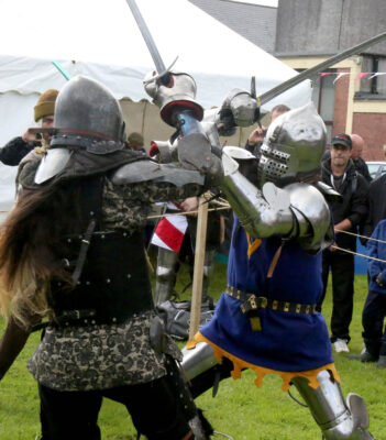 Four times world champion I.M.C.F. Lara Serviolle fighting Peter Postol at the Athenry Walled Town's Day. | Photo: Hany Marzouk