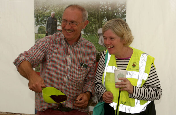 Dr. Christy Cunniffe and Marie Mannion Galway county Heritage officer at the Athenry Walled town Day | Photo: Hany Marzouk