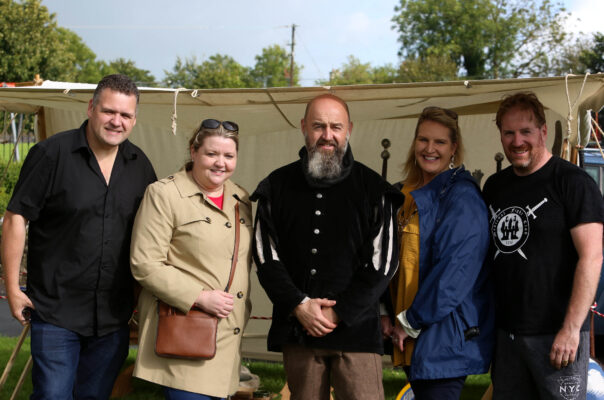 Des and Denise Healy, P.J. O'Brien and Cllr. Shelly and Brian Quinn at the Athenry Walled town Day | Photo: Hany Marzouk