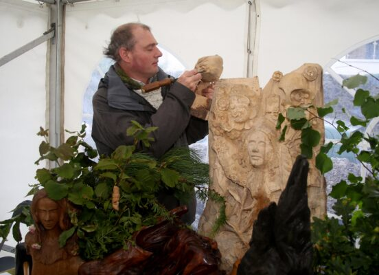 Sculptor Artist Sam Beardon from Kinvara at the Athenry Walled Towns Day, Co. Galway. | Photo: Hany Marzouk
