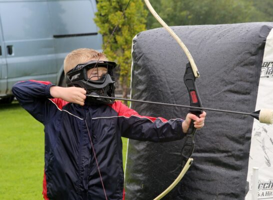 Éanna McWalter, age 9 from Ballinderreen enjoying the Archery at the Athenry Walled Towns Day, Co. Galway. | Photo: Hany Marzouk