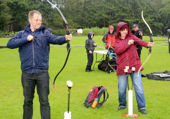 Dave Miller and Michelle Mitchell from Kiltullagh enjoying the Archery at the Athenry Walled Towns Day, Co. Galway. | Photo: Hany Marzouk