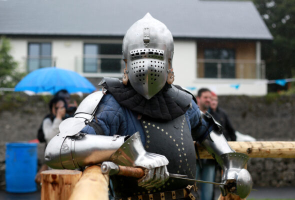 Piotr Posol taking part at the Athenry Walled Town's Day, Co. Galway as a 1916 fitter as part of the National Heritage Week. | Photo: Hany Marzouk