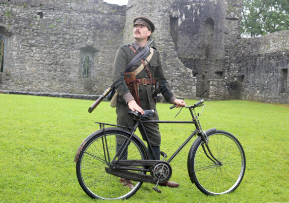 Dave Swift of 'Claiomh Group' taking part at the Athenry Walled Town's Day, Co. Galway as a 1916 fitter as part of the National Heritage Week. | Photo: Hany Marzouk