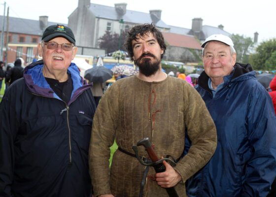 Terry Sullivan and Phil Vergamini from Newmexico with Ashley O'Rourke at the Athenry Walled Towns Day as part of the National Heritage Week  | Photo: Hany Marzouk
