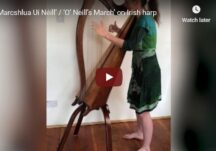 'Marcshlua Uí Néill' / 'O' Neill's March' on Irish harp