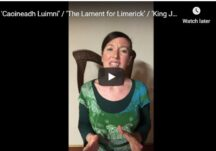 'Caoineadh Luimní' / 'The Lament for Limerick' / 'King James' March to Dublin' on Irish harp