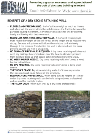 Benefits of a dry stone wall