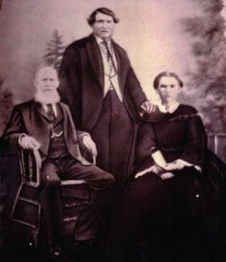 Mary Dooley, with her husband John Dawson at their daughter's wedding Catherine in 1879 in Western Australia. The older gentleman is believed to be Mr Higgins originally from Springlawn Mountbellew