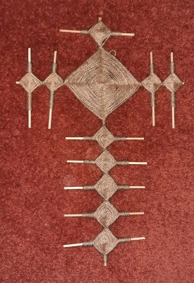 Brigid Crosses made from rushes twine & wool