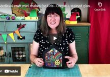 Medieval craft mini makes for kids - Create a stained glass effect window