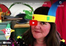 Medieval craft mini makes for kids - Jester's stick