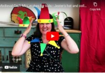 Medieval craft mini makes for kids – Jester's Hat and Collar
