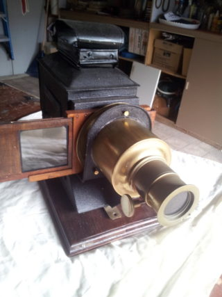 Magic Lantern used by Maurice's Grandmother. |  Photo Courtesy of Maurice Lyons