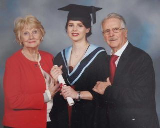 Eileen and Harry McFadden with their granddaughter on the occasion of her conferring ceremony. | Photo: Lafayette Studios, Dublin