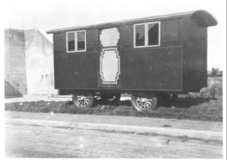 Ronald Lyon's living wagon |  Photo Courtesy of Maurice Lyons