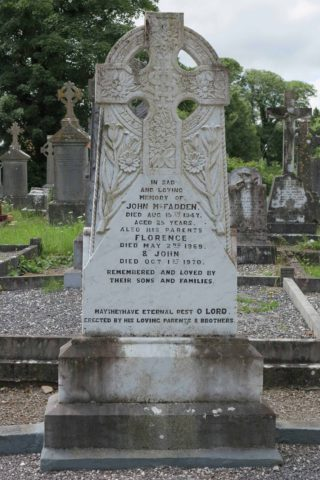 The McFadden Plot in Glenamaddy Cemetery | Photo: Gerry Costello