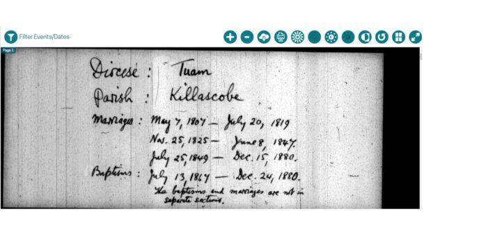 Killoscobe Parish Records