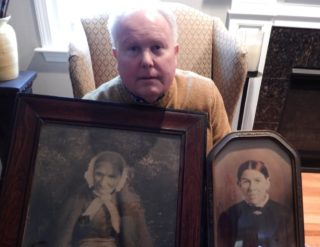 Michael Wright, holding the two precious photographs. | Courtesy: Joanie Comer Durgin, USA
