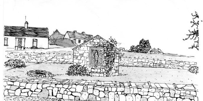 Drawing of Lady Well, Abbey