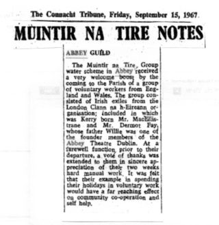 Muintir Na Tire Notes - Abbey Guild