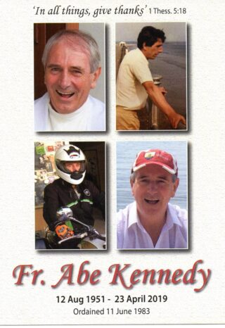 Remembering Our Beloved Fr Abe Kennedy |     Photo Courtesy: Kennedy Family